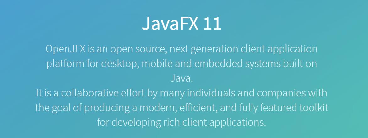 JavaFX 11 发布,与JDK 拆分后的首个正式大版- OSCHINA
