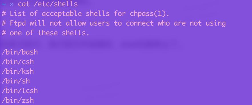 多种的shell