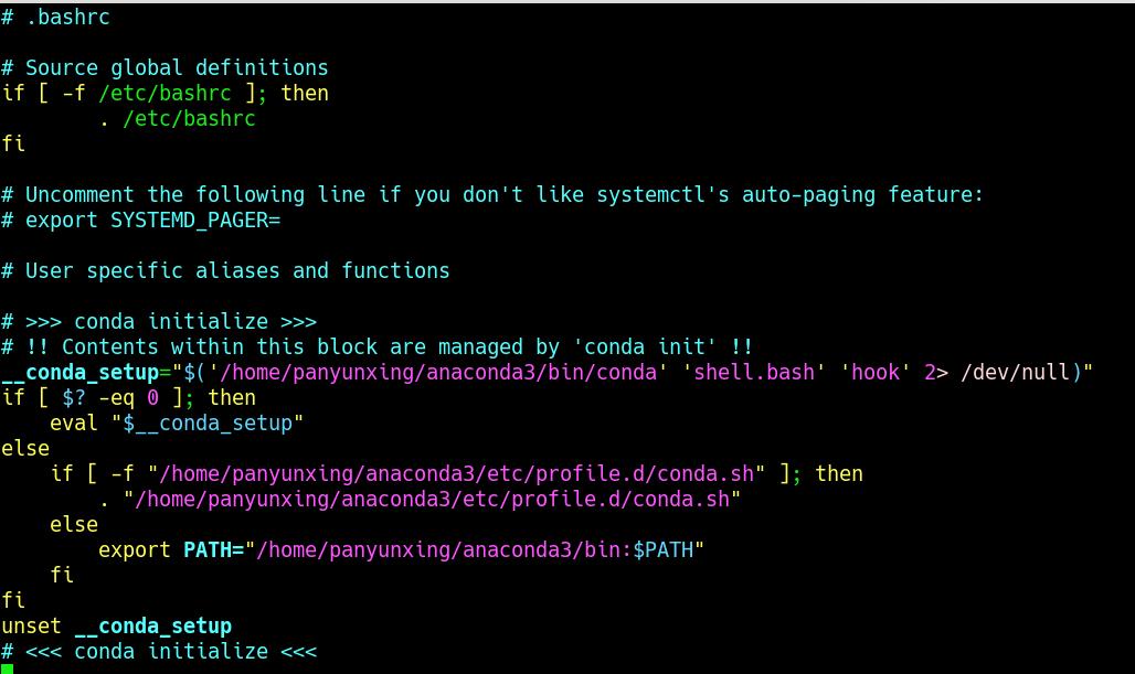 在我们打开终端的时候自动 执行了 conda activate base 命令