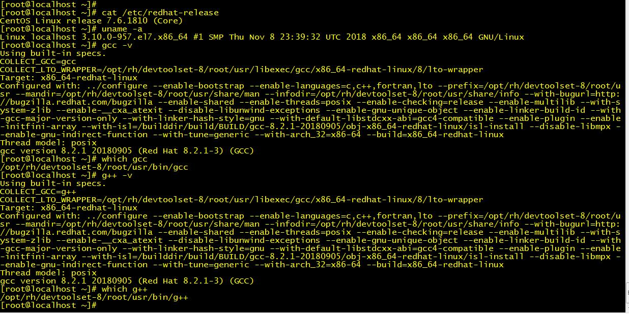 Centos 7 yum升级GCC 8版本- MichaelShu's Homepage - OSCHINA