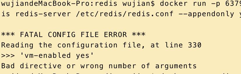Docker Redis FATAL CONFIG FILE ERROR - _大侠__的个人空间- OSCHINA