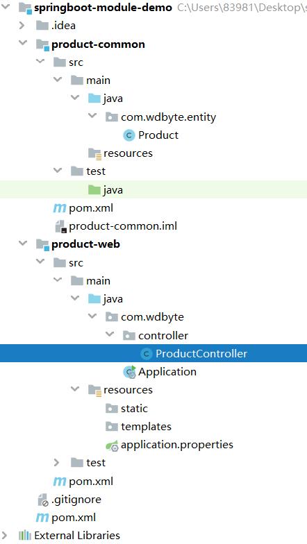 多模块目录结构