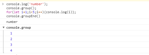 console.group()与console.groupEnd()