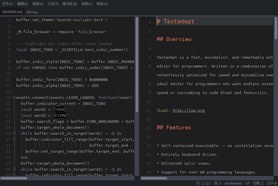 Deepin下运行10.1版本的截图