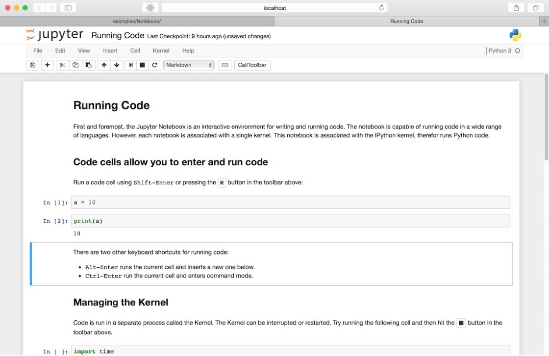 Web 交互式计算笔记本平台 Jupyter Notebook