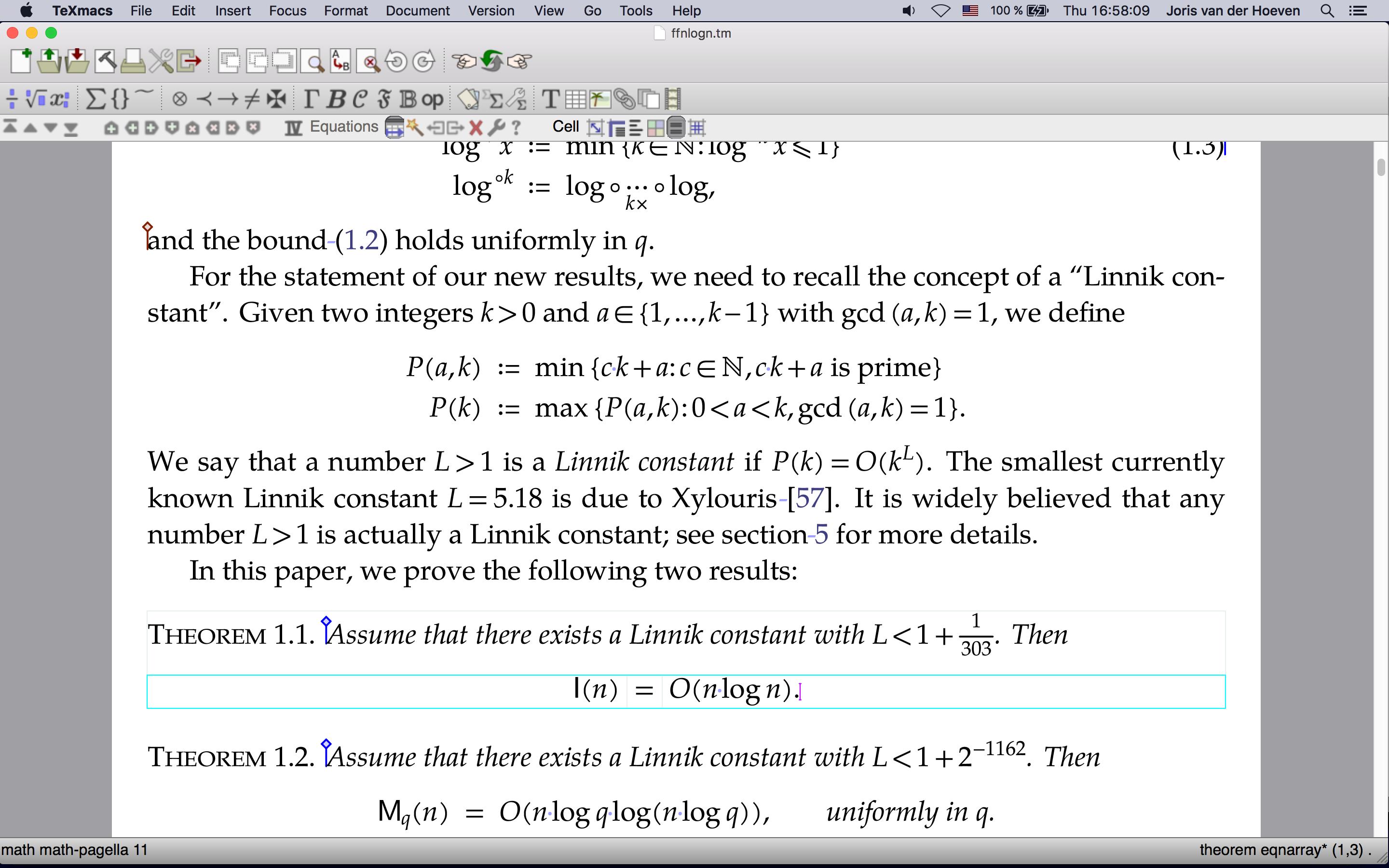 科学公式编辑软件 GNU TeXmacs