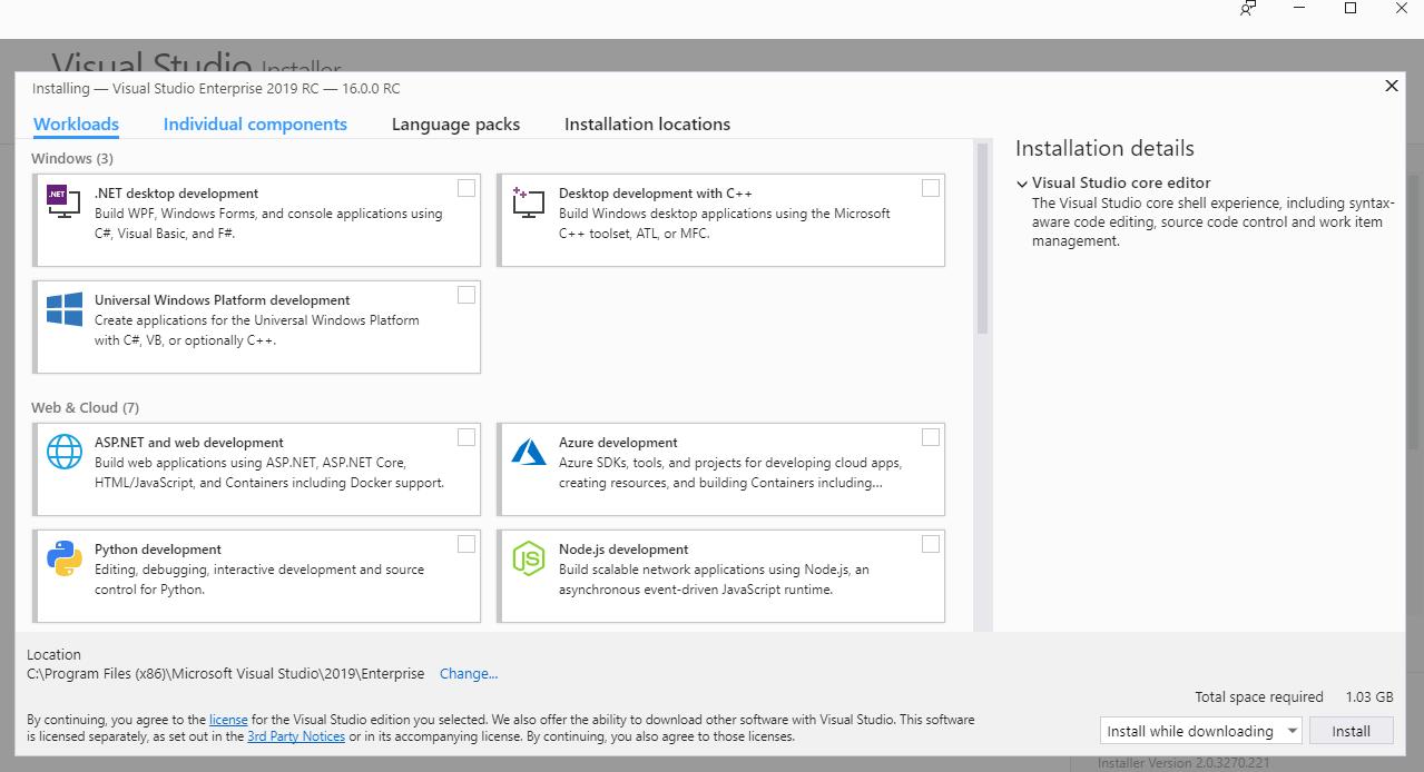 Visual Studio 2019 RC入门指南图4  - 第1部分