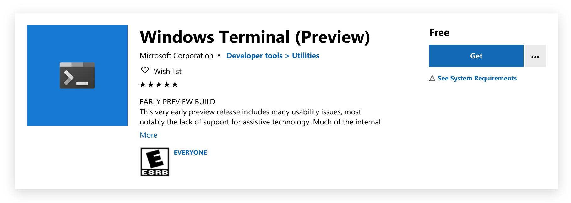 Windows Terminal 已上架,快尝鲜