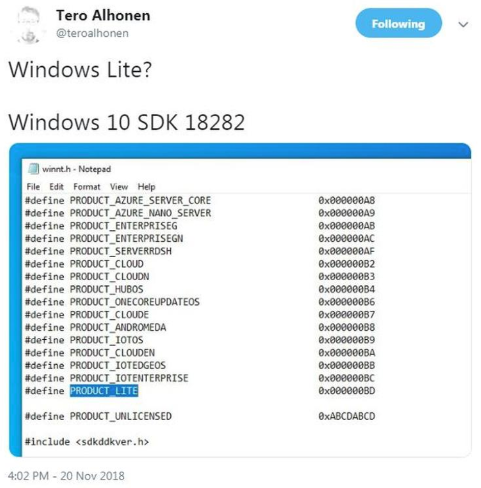 微软Windows Core OS(WCOS) 最新消息:移植 Win 10 操作中心