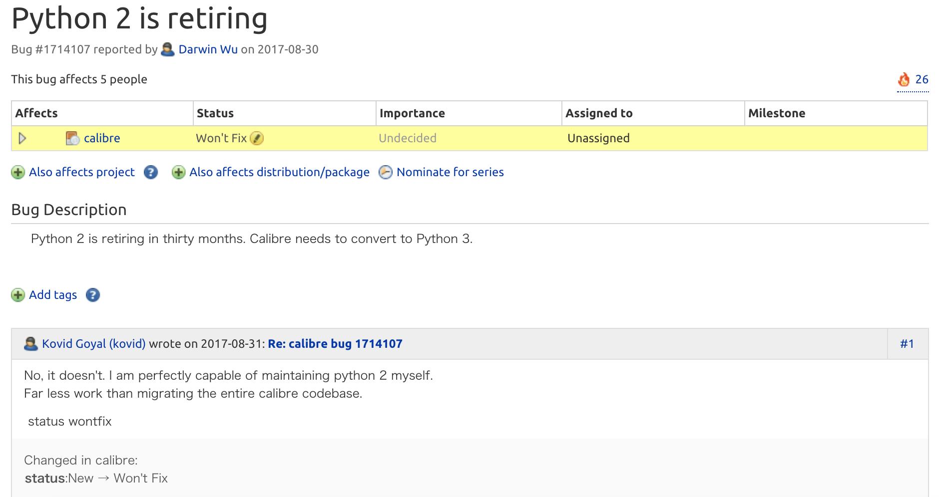 不兼容惹的禍,Calibre 作者拒絕遷移至 Python 3