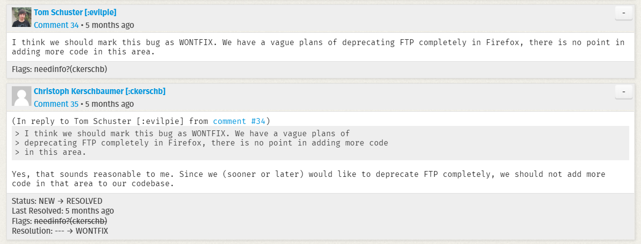 Chrome 與 Firefox 將取消對 FTP 的支持
