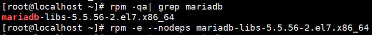 卸载MariaDB