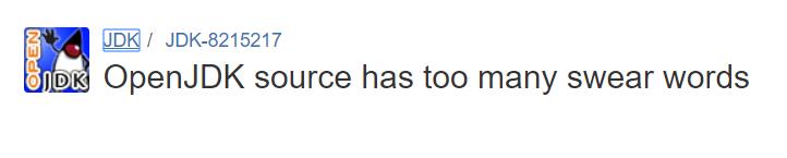 OpenJDK 中髒話太多,開發者看不下去了
