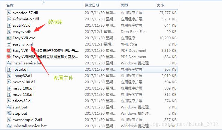 easyNVR数据库、配置文件