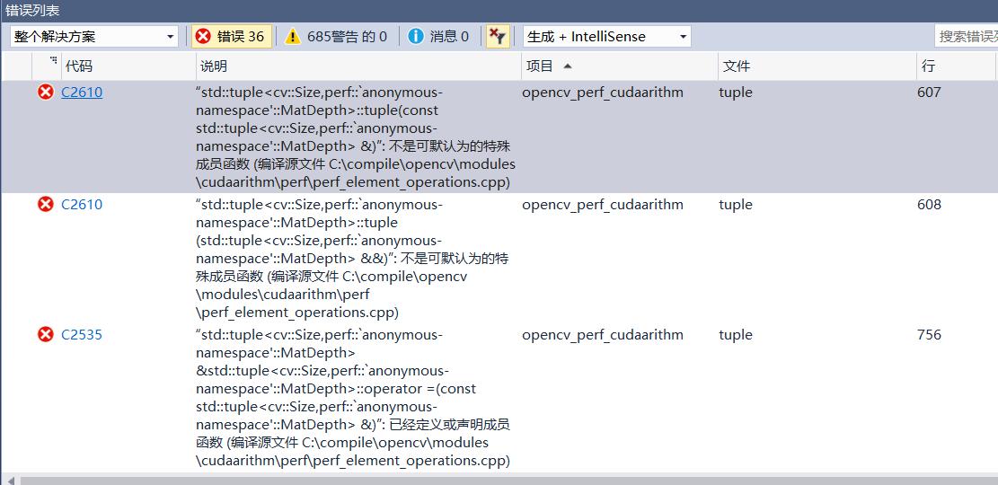 opencv build errors