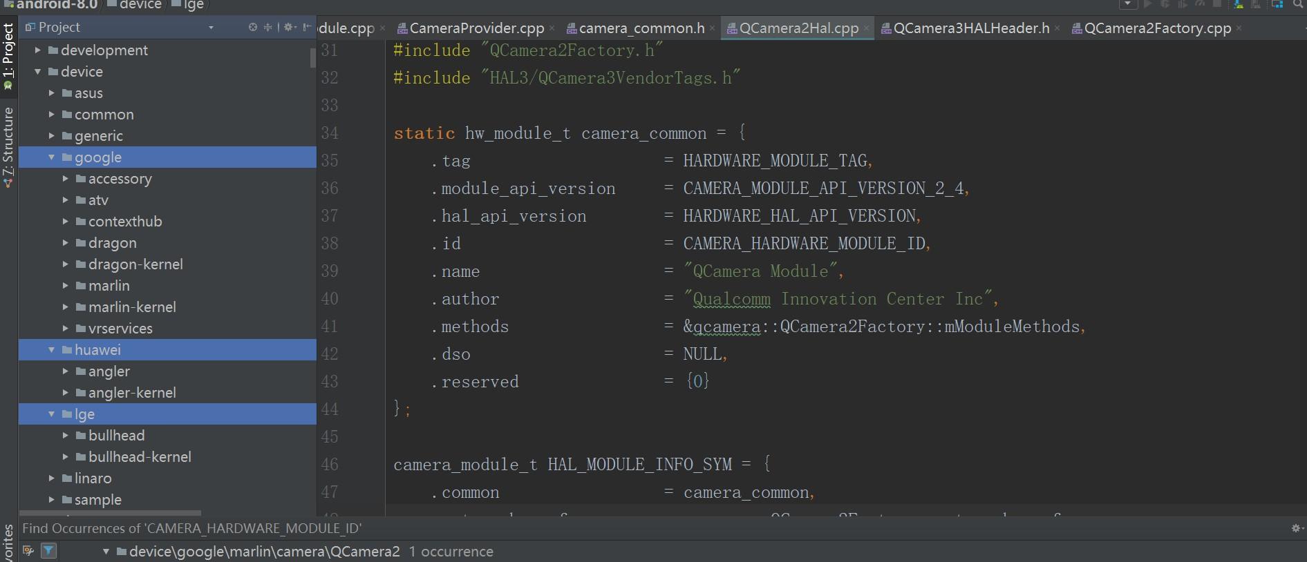 Android 8 0系统源码分析--openCamera(HAL)启动过程源码分析