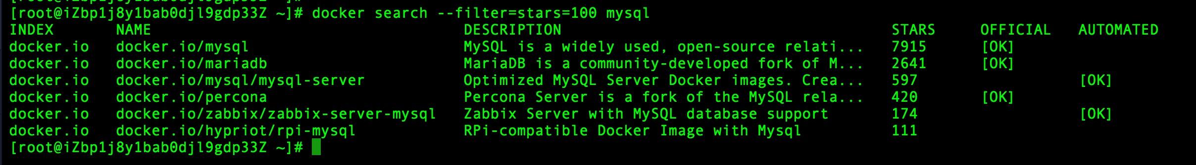 Docker 搜索镜像