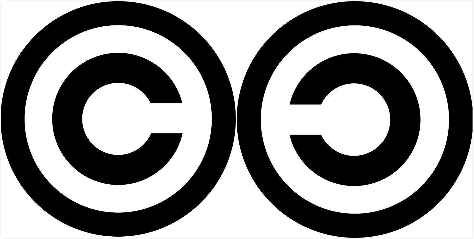 两个标志:copyright+copyleft