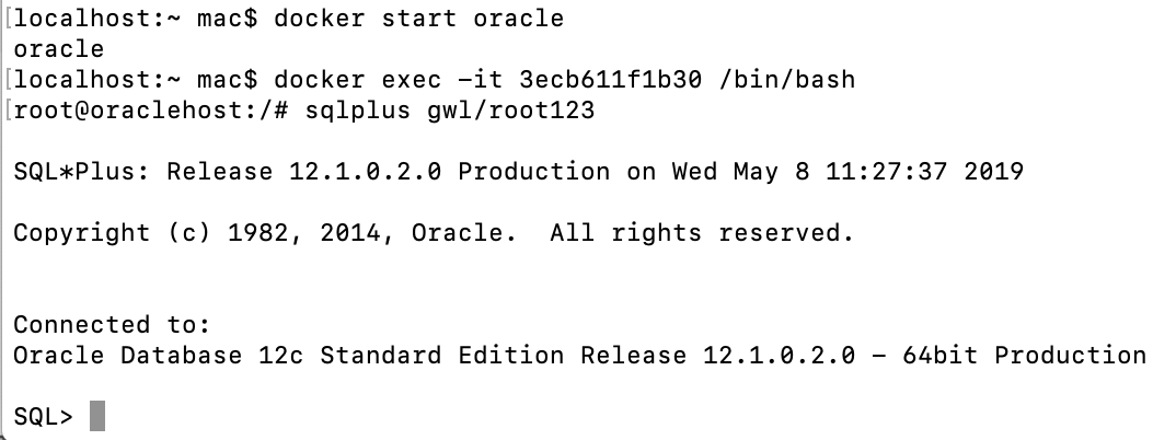 mac下Docker安装oracle - 个人博客- OSCHINA