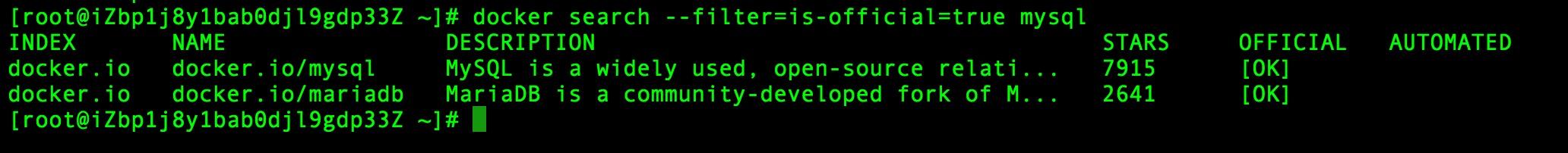 Docker 搜索官方镜像