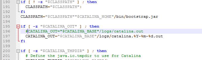 Linux Tomcat7 catalina.out日志文件切割