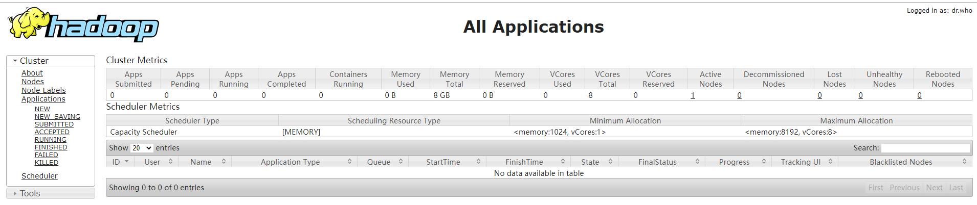 Hadoop系列-01、单机版Hadoop安装