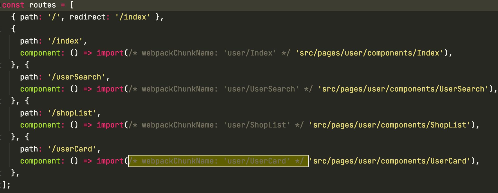 import()函数ES2020(ES11)动态引入,与webpack动态加载打包chunk命名结合