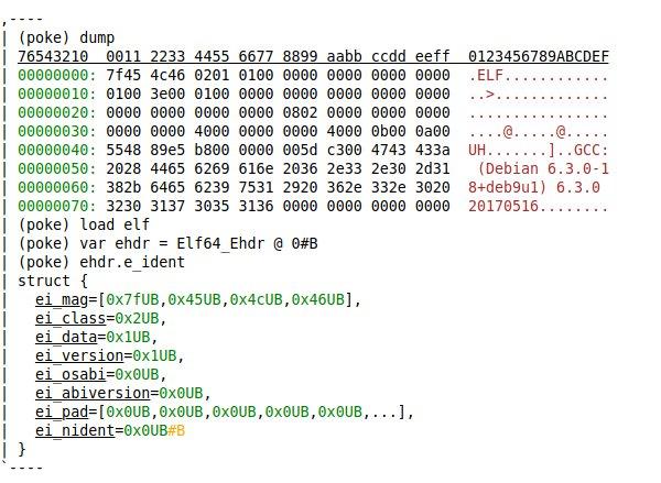 GNU 发布二进制数据编辑器 GNU poke