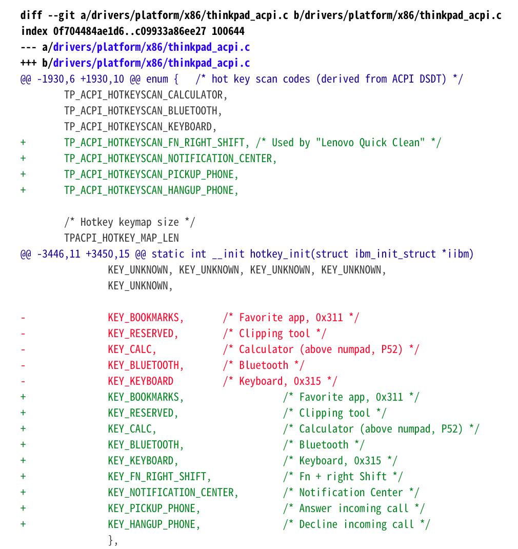 开发者提交补丁,Linux 5.10 或支持联想 PC 键盘快捷键