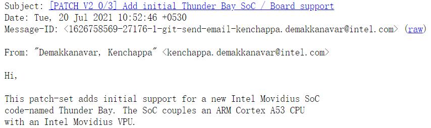 Intel 开始为 Linux 提供 Thunder Bay SoC 支持