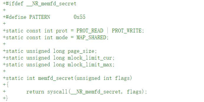 Linux 5.14 将创建秘密内存区域