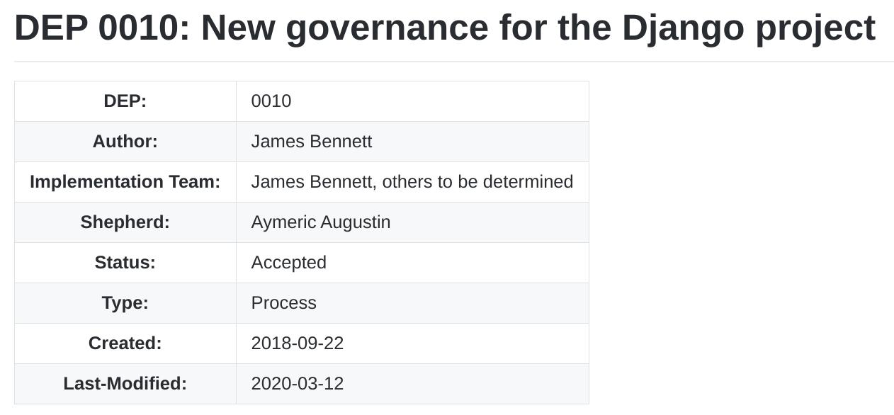 Django 采用新的项目治理模型