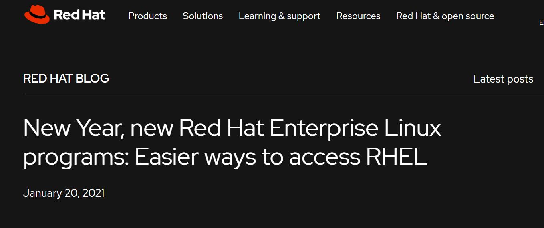 红帽推出针对小型生产环境的免费 RHEL