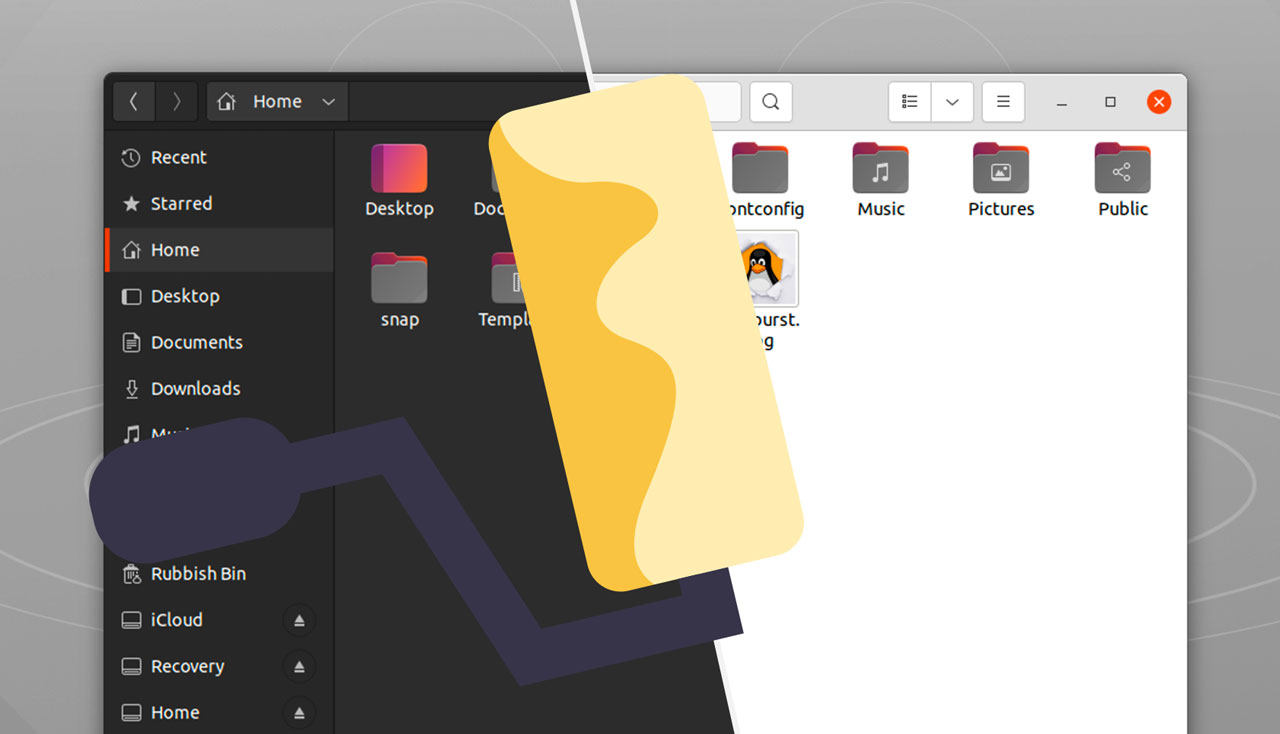 Ubuntu 21.10 外观变化,仅配备 fully-light/dark 版本