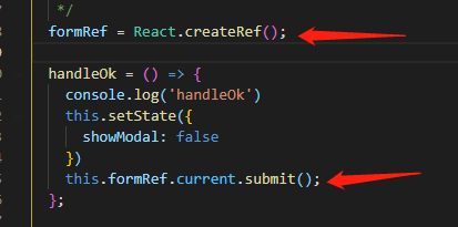 react/ant design 利用函数控制表单(提交表单,重置表单)