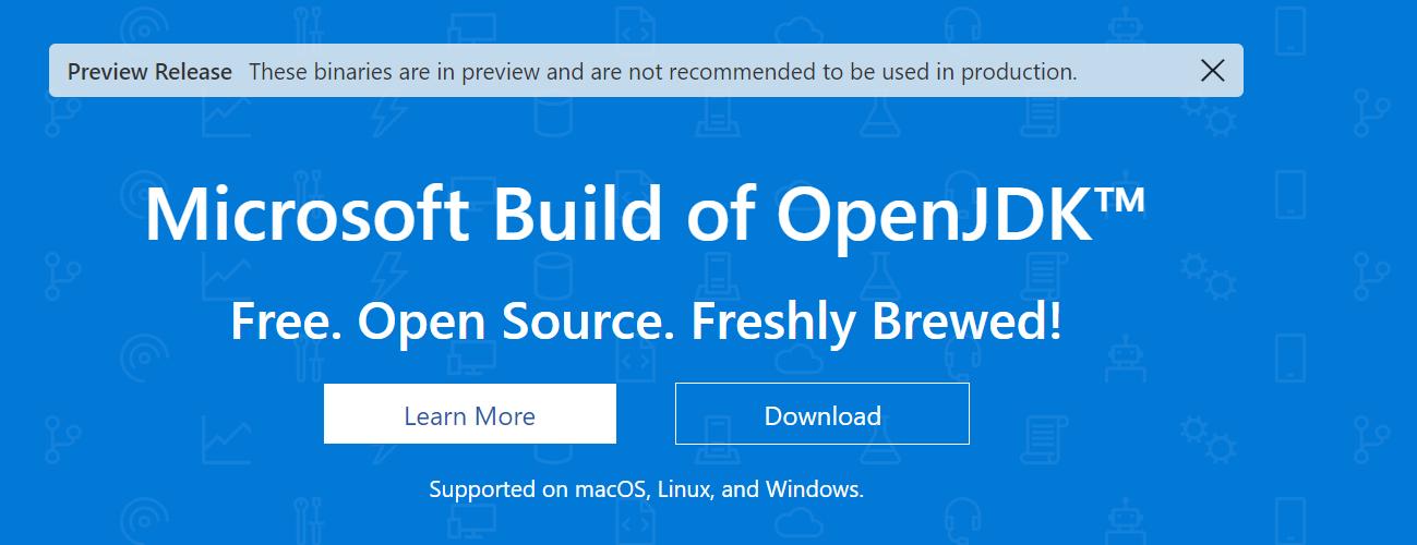 微软也推出了 OpenJDK 发行版