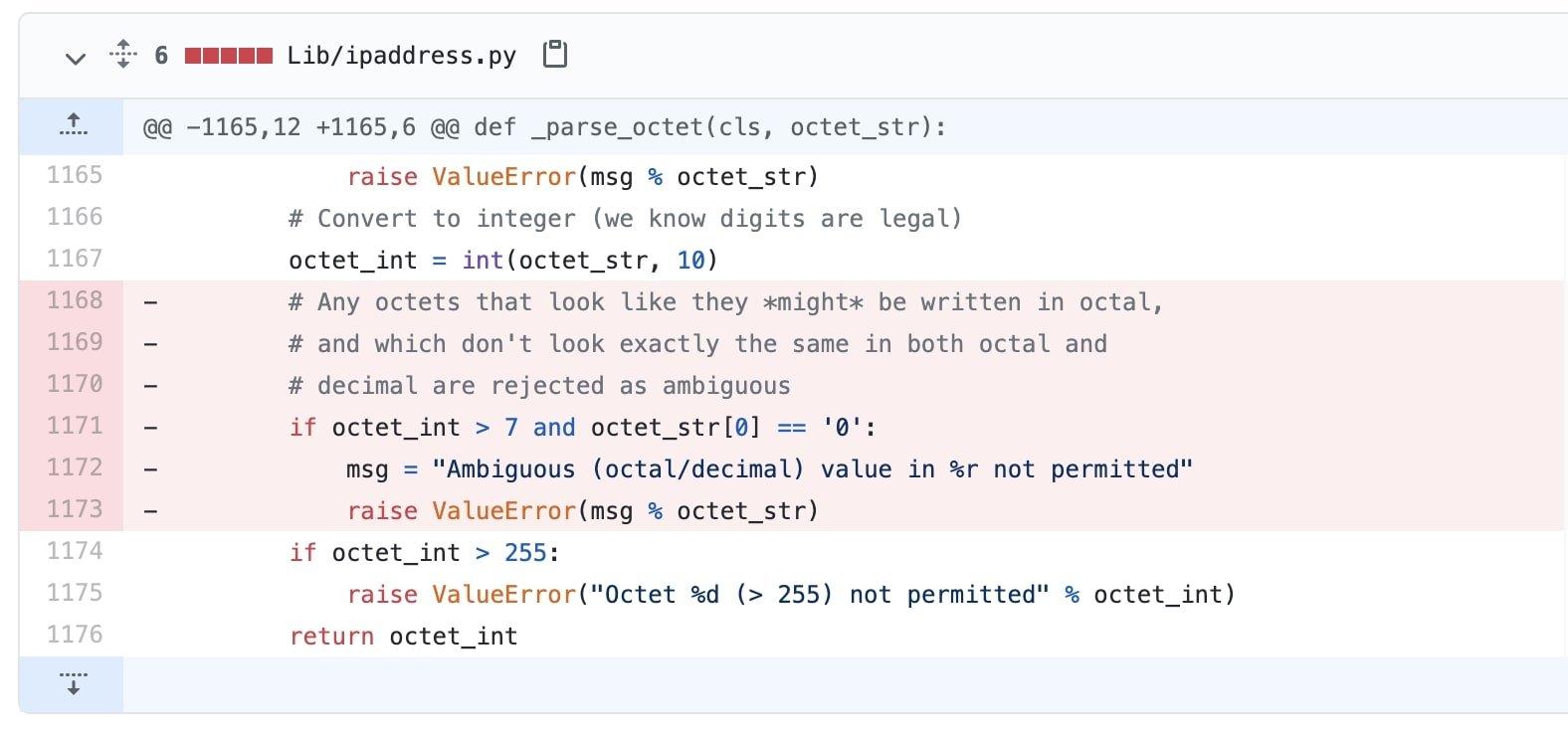 Python 被发现存在 IP 地址验证漏洞
