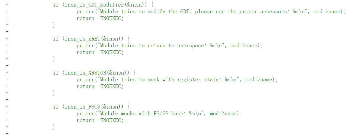 Linux 或将限制模块调用某些寄存器