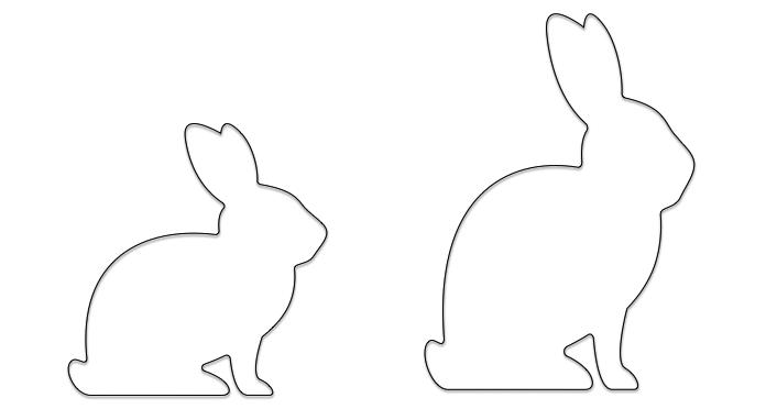 兔子非比例缩放