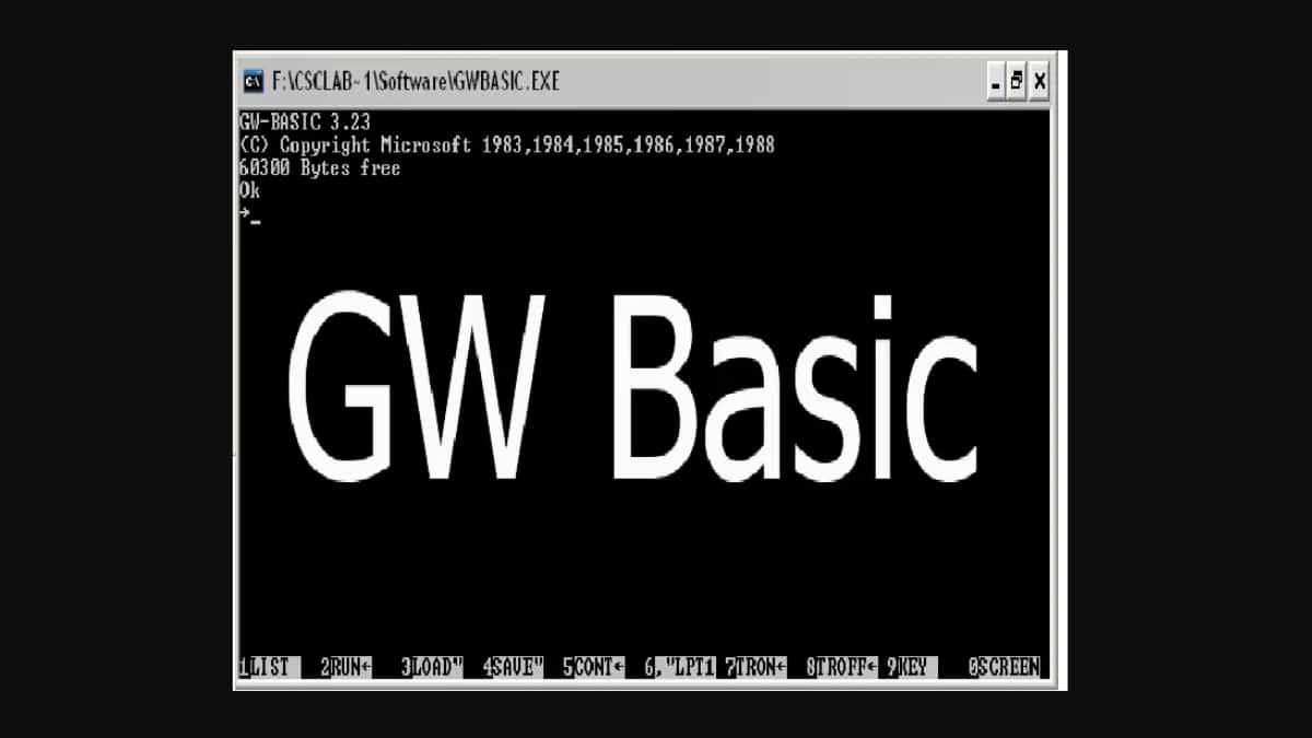 微软开源早期编程说话 GW-BASIC