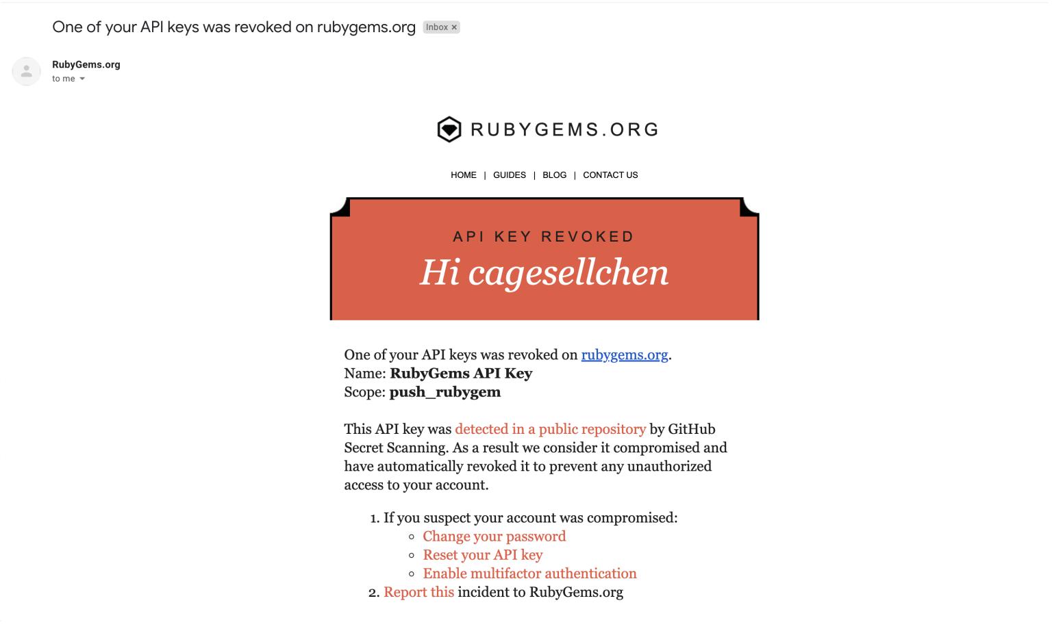GitHub 机密扫描现在支持 PyPI 和 RubyGems