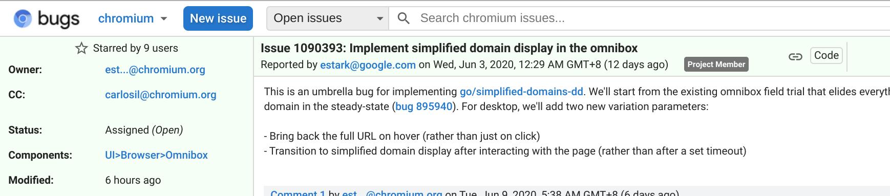 除了域名,Chrome 或将隐藏整个 URL 地址插图_小T博客