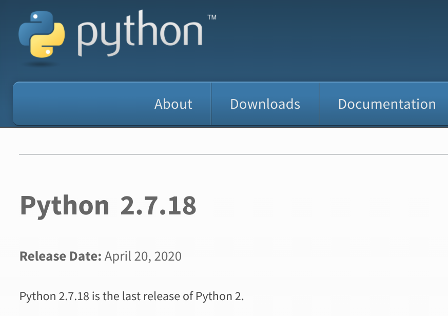 Python 2.7.18 发布 - Python 2 时代宣告结束