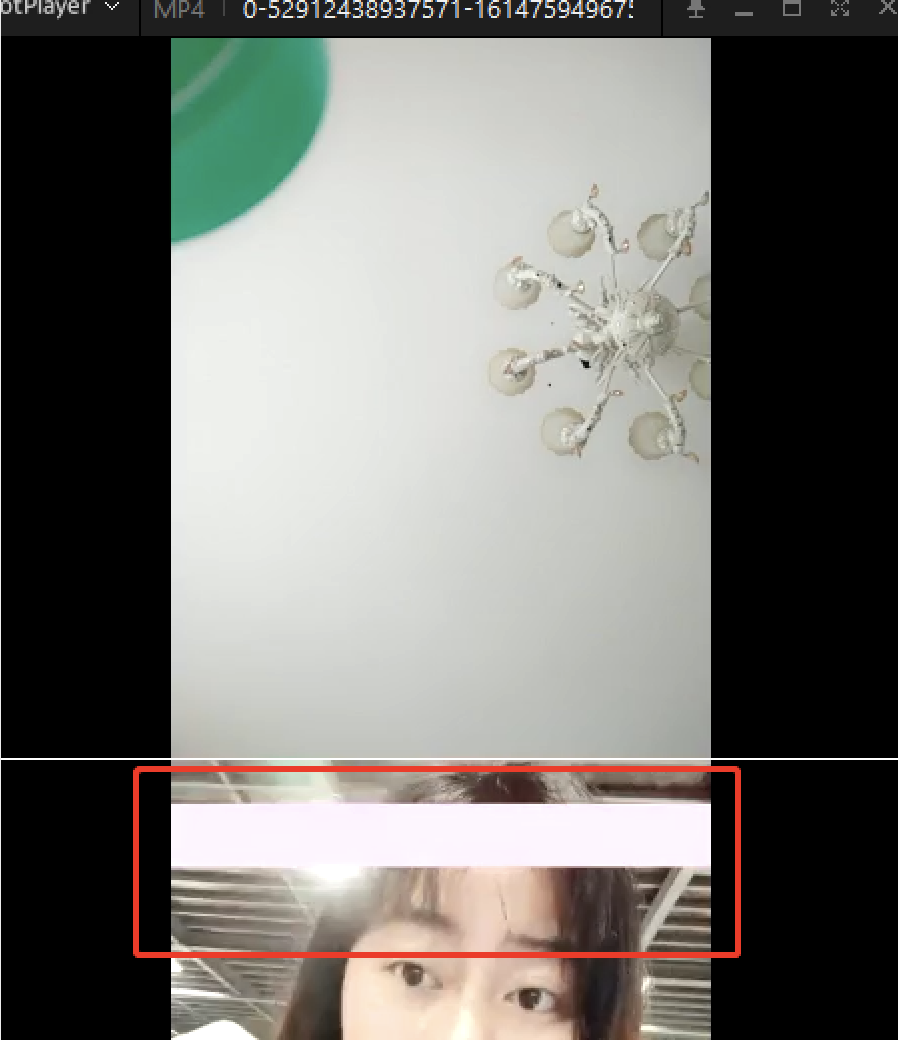 遇到问题:采集画面有红条
