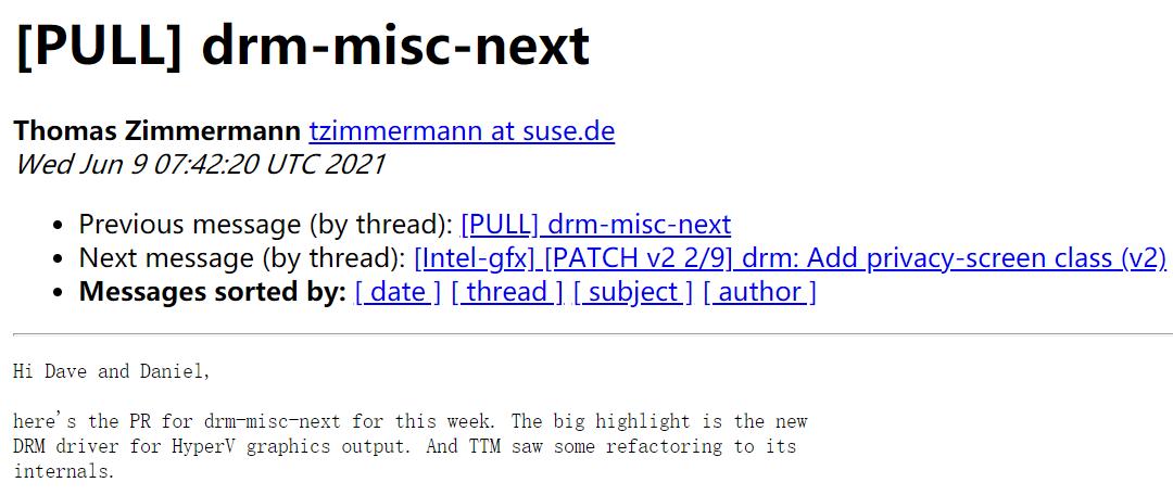 Linux 5.14 或将支持 Hyper-V DRM 显示驱动程序