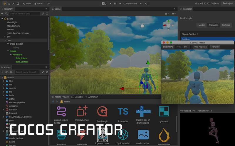 Cocos Creator 3.1.2 发布,跨平台 2D、3D 游戏创作⼯具