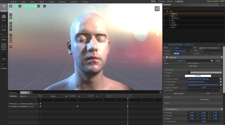 基于浏览器的 3D 图形套件 WebGLStudio.js